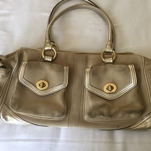 COACH metallic gold handbag